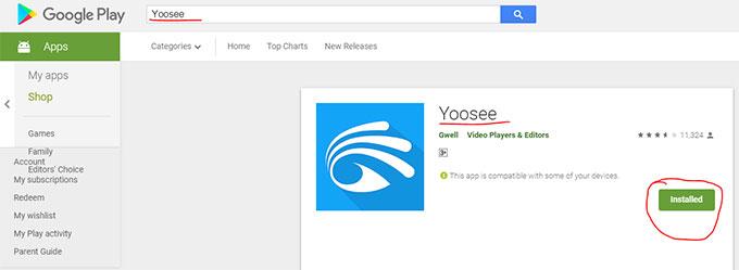 Ứng dụng xem camera Yoosee trên điện thoại Android, iOS